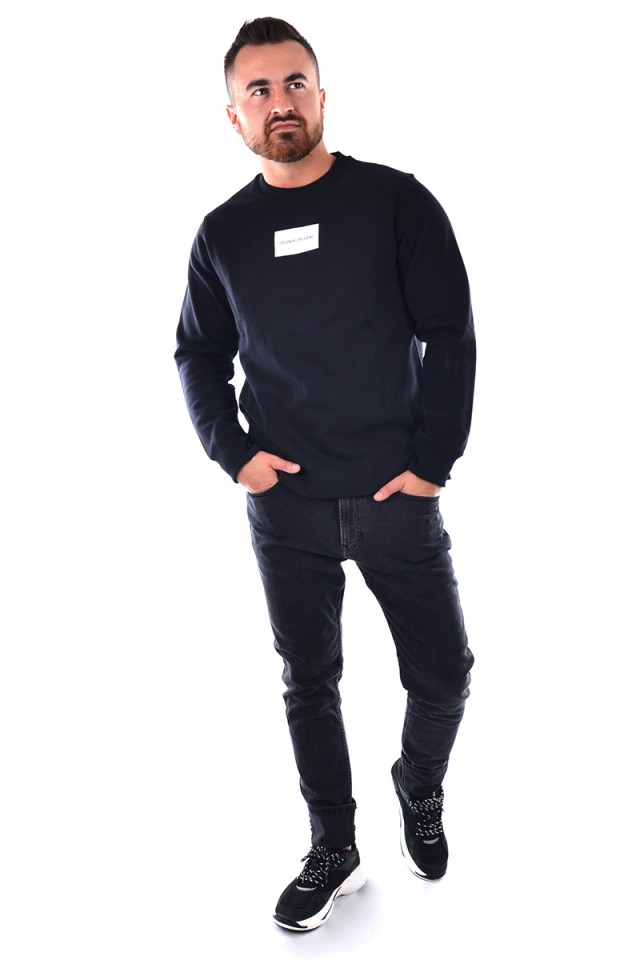 Bluza BADGE PRINT BLACK CALVIN KLEIN JEANS