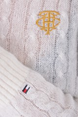 Sweter TH ESSENTIAL ALPACA SNOW WHITE TOMMY HILFIGER