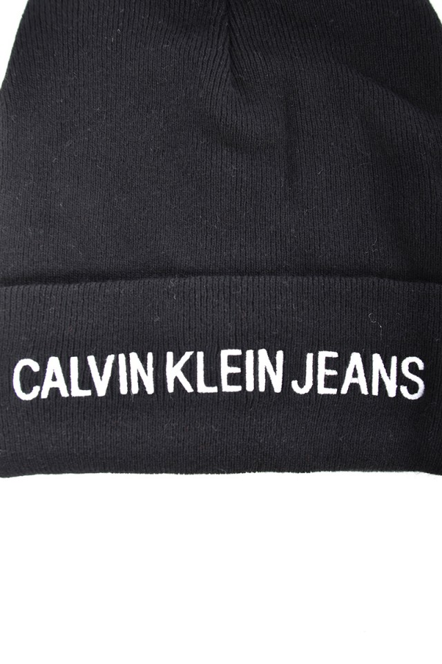 Czapka J POM POM BEANIE BLACK CALVIN KLEIN JEANS