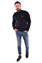 Sweter TJM SOLID MOCK NECK BLACK TOMMY JEANS
