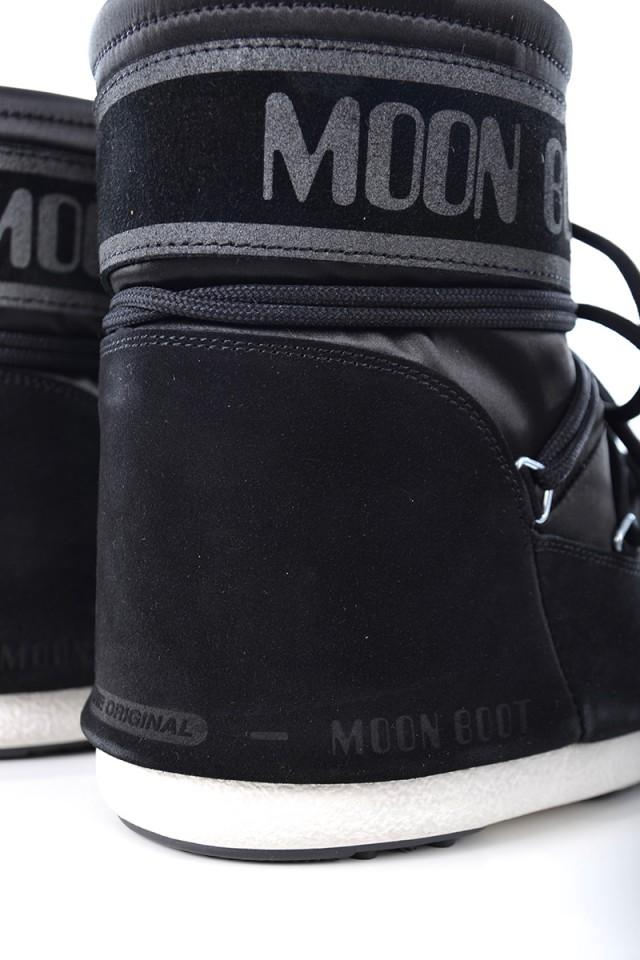Śniegowce CLASSIC LOW SATIN BLACK MOON BOOT