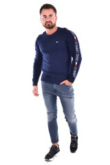 Sweter TJM TAPE SWEATER NAVY BLUE TOMMY JEANS