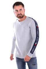 Sweter TJM TAPE SWEATER GREY TOMMY JEANS