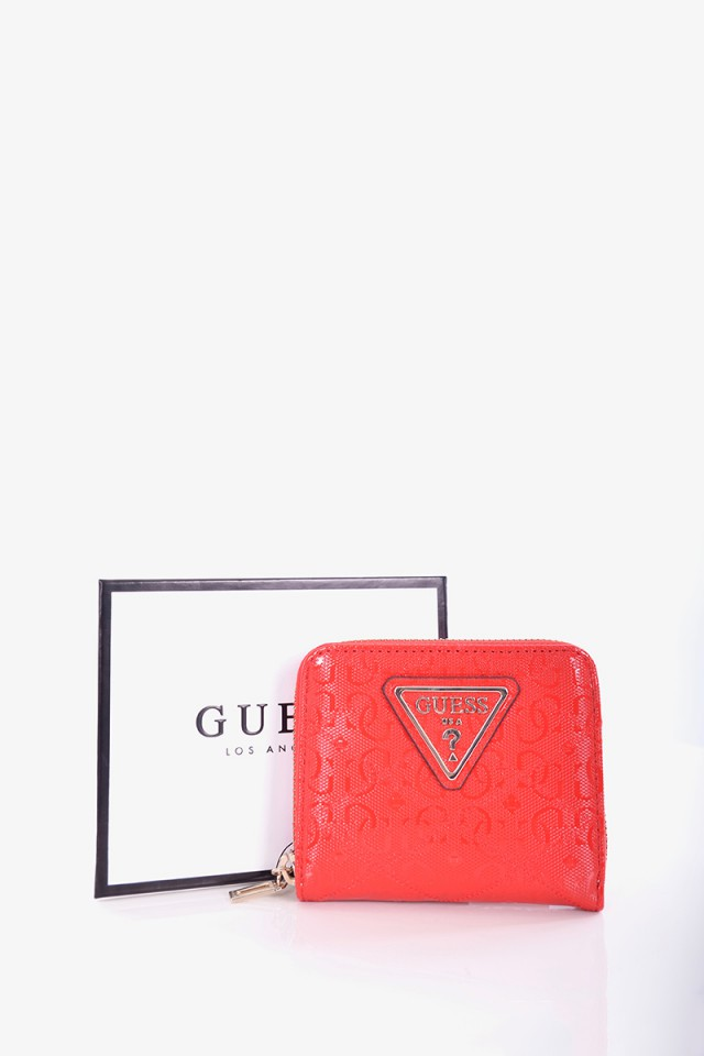 Portfel ASTRID SMALL LOGO ZIP RED GUESS