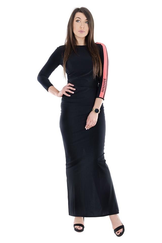 Sukienka SPORT STRIPE ABITO NERO PATRIZIA PEPE