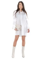 Sukienka SHIRT DRESS BIANCO PATRIZIA PEPE