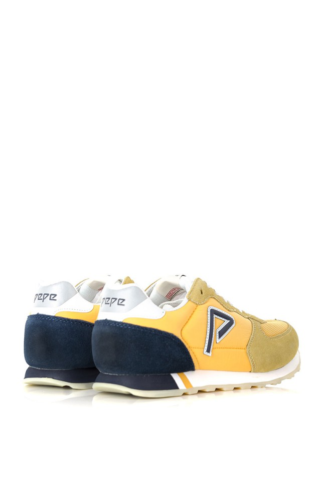 Sneakersy KLEIN ARCHIVE SUMMER YELLOW PEPE JEANS