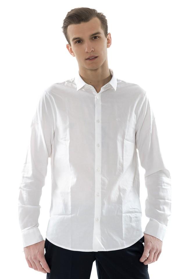 Koszula WHITE OXFORD ARMANI EXCHANGE