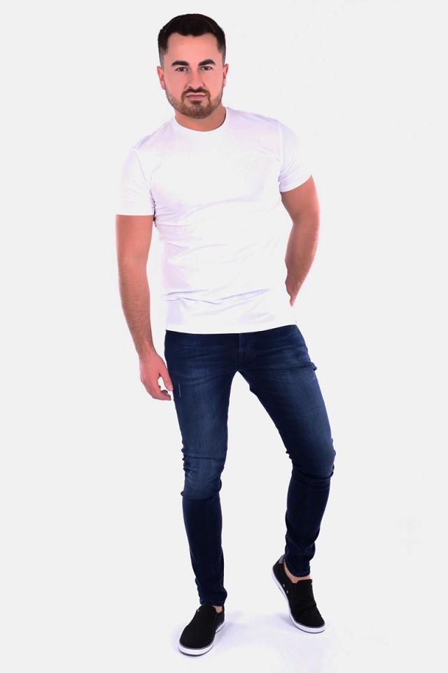 T-shirt COTTON STRETCH SLIM WHITE TRUSSARDI JEANS