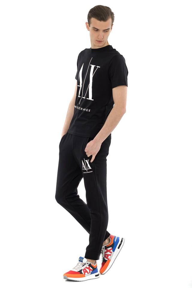 T-shirt AX FRONT PRINT BLACK ARMANI EXCHANGE
