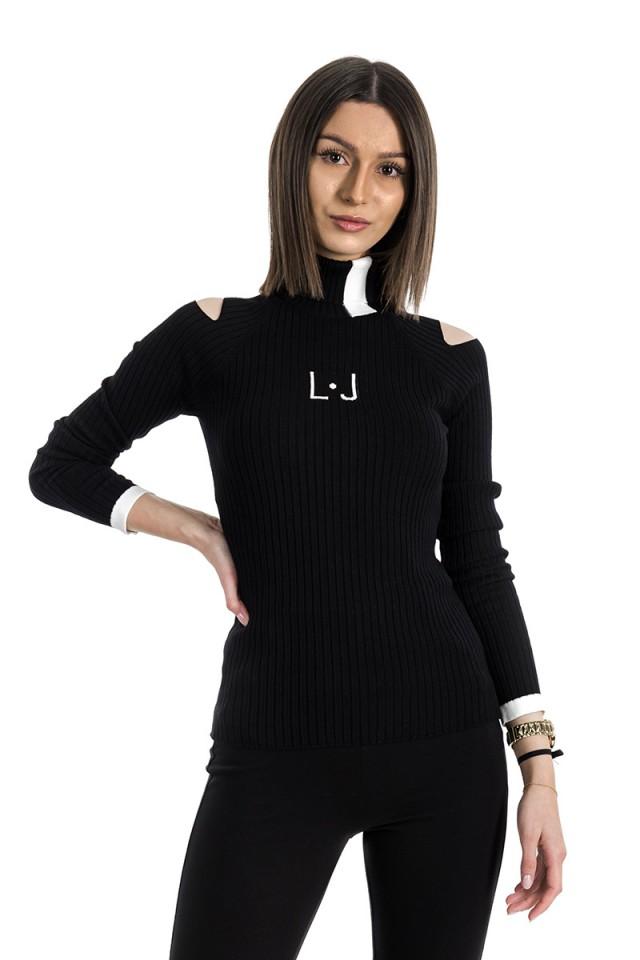 Sweter z golfem MAGLIA NERO LIU JO