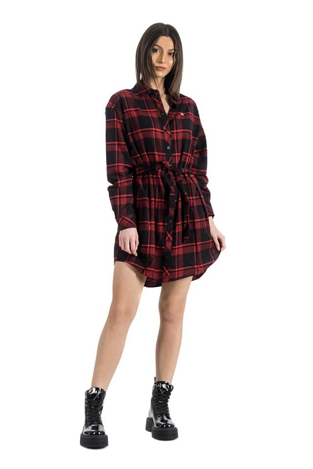Sukienka FLANNEL SHIRT DRESS TOMMY JEANS