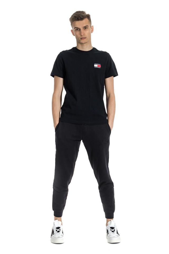 Spodnie dresowe z wyszytym logo oraz ściągaczem SLIM SWEATPANT TOMMY JEANS