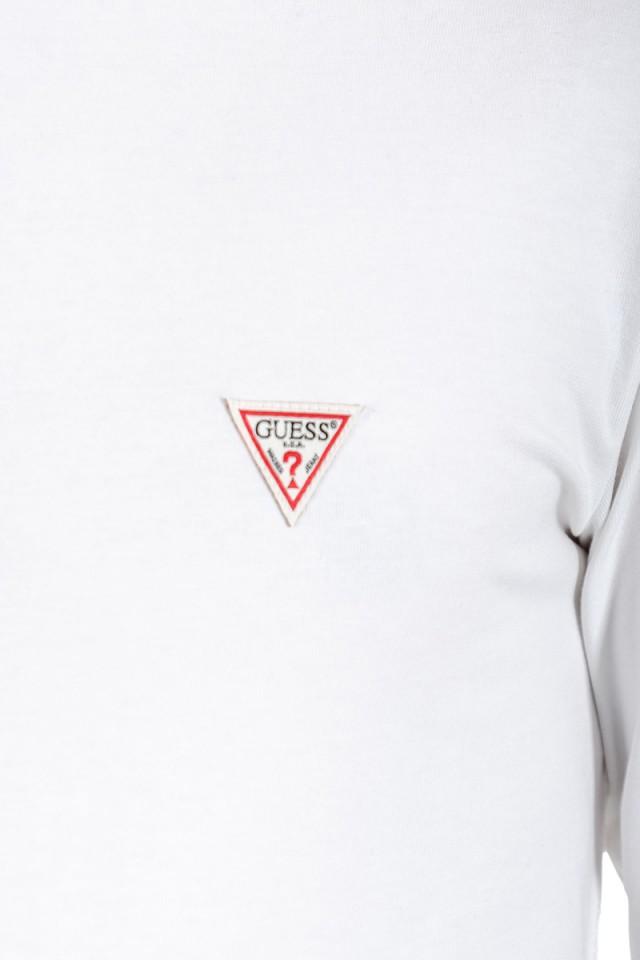 Longsleeve z małym logo na piersi biały CORE GUESS