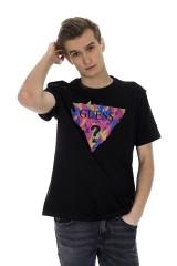 T-shirt czarny CYCLONE GUESS
