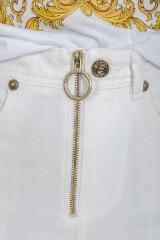Spodnie jeansowe ze złotym zamkiem VERSACE JEANS COUTURE