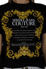 T-shirt czarny JERSEY MOUSE VERSACE JEANS COUTURE