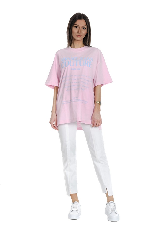 T-shirt OVER GARANZIA PINK VERSACE JEANS COUTURE
