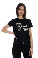 T-shirt IKONIK RHINESTONE KARL LAGERFELD