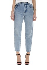 Spodnie jeansowe z wyszytym logo na kieszeniach PATRIZIA PEPE