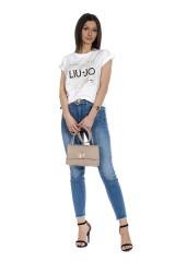 T-shirt z logo biały LIU JO