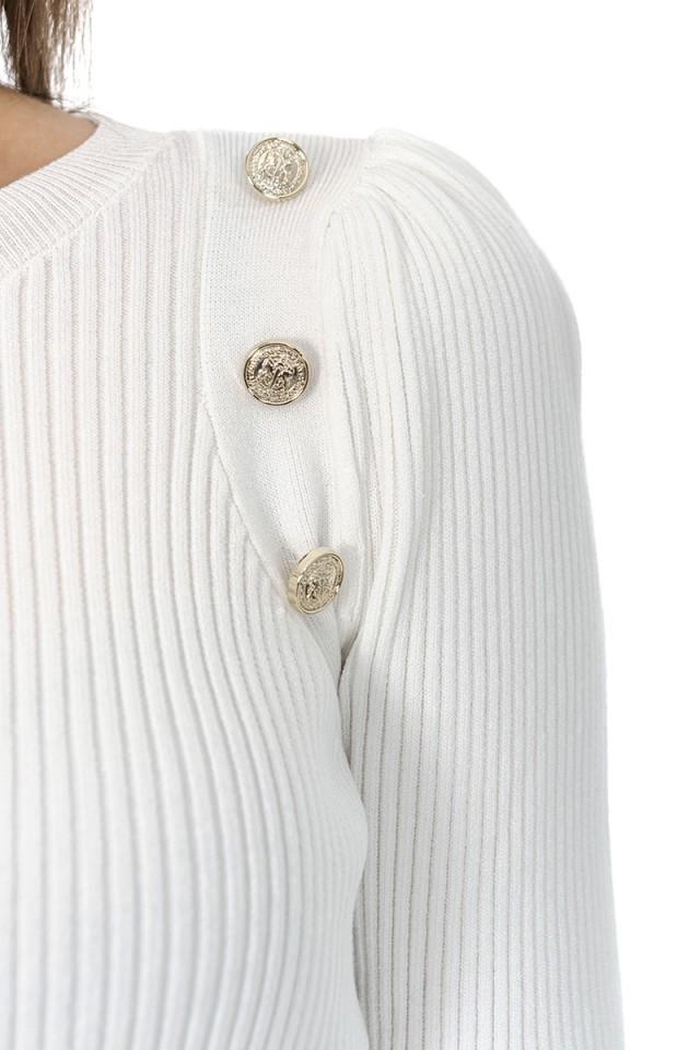 Sweter ze złotymi guzikami PINKO
