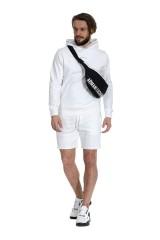 Bluza z kapturem biała CALVIN KLEIN JEANS
