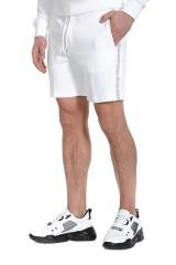 Szorty dresowe białe z logo CALVIN KLEIN JEANS