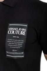 Polo czarna z logo VERSACE JEANS COUTURE