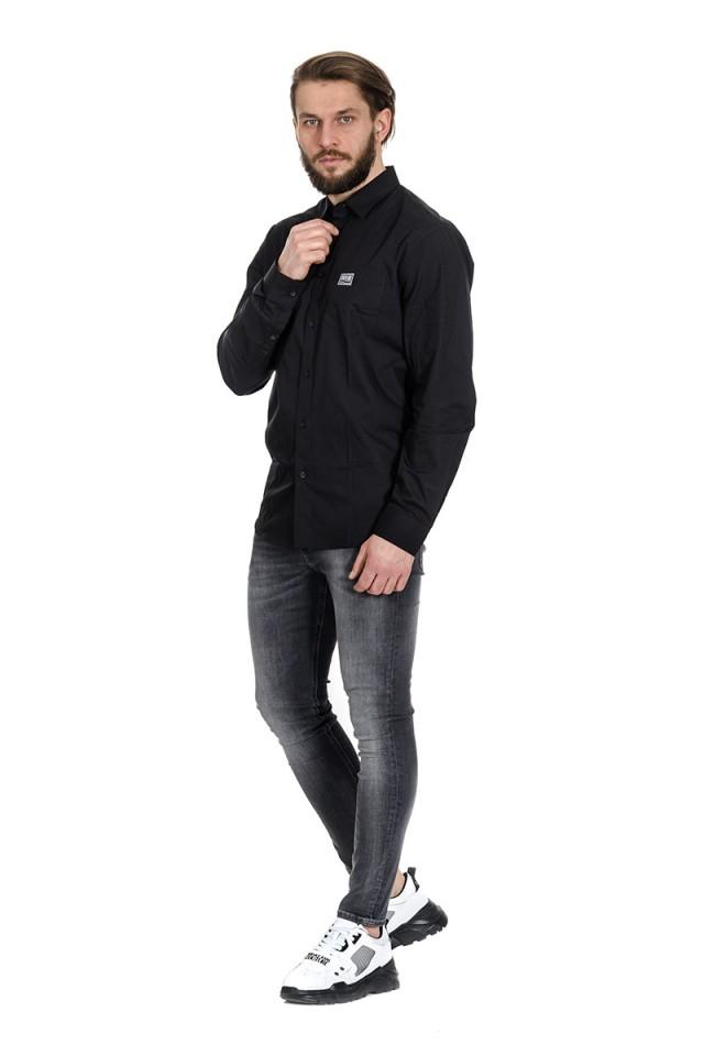 Koszula z klasycznym logo czarna VERSACE JEANS COUTURE