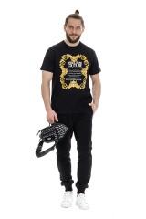 T-shirt z logo czarny VERSACE JEANS COUTURE