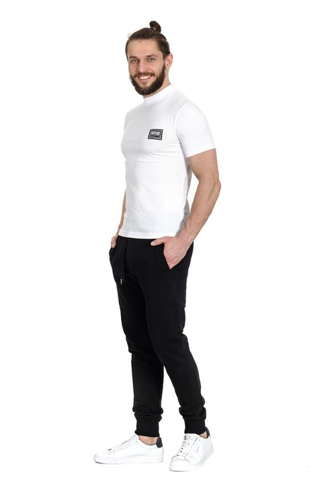 T-shirt z logo na piersi biały VERSACE JEANS COUTURE