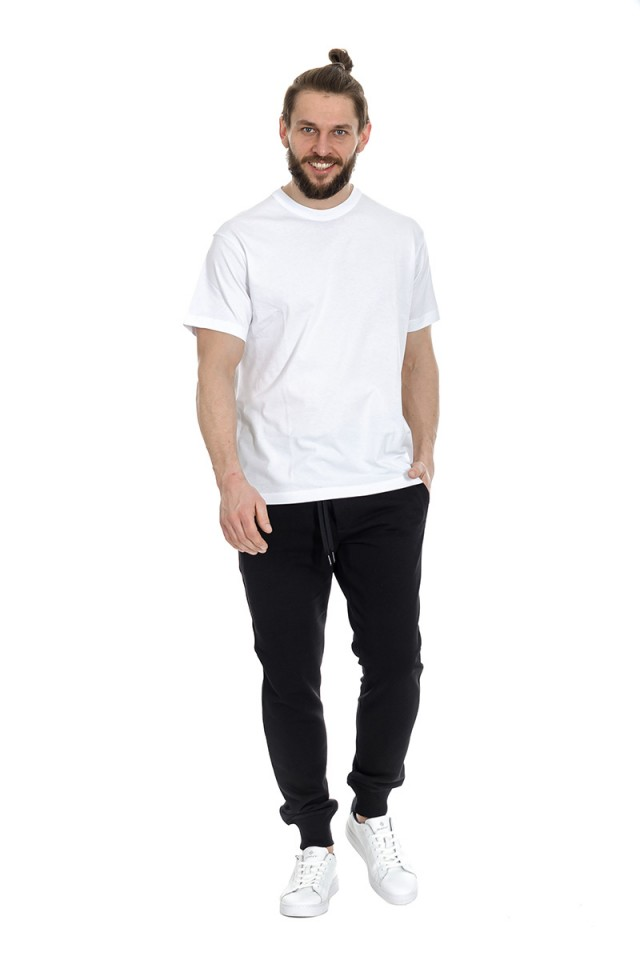 T-shirt z logo na rękawie biały VERSACE JEANS COUTURE