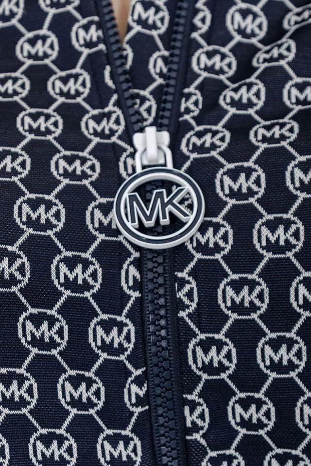 Bluza rozpinana w logo granatowa MICHAEL KORS