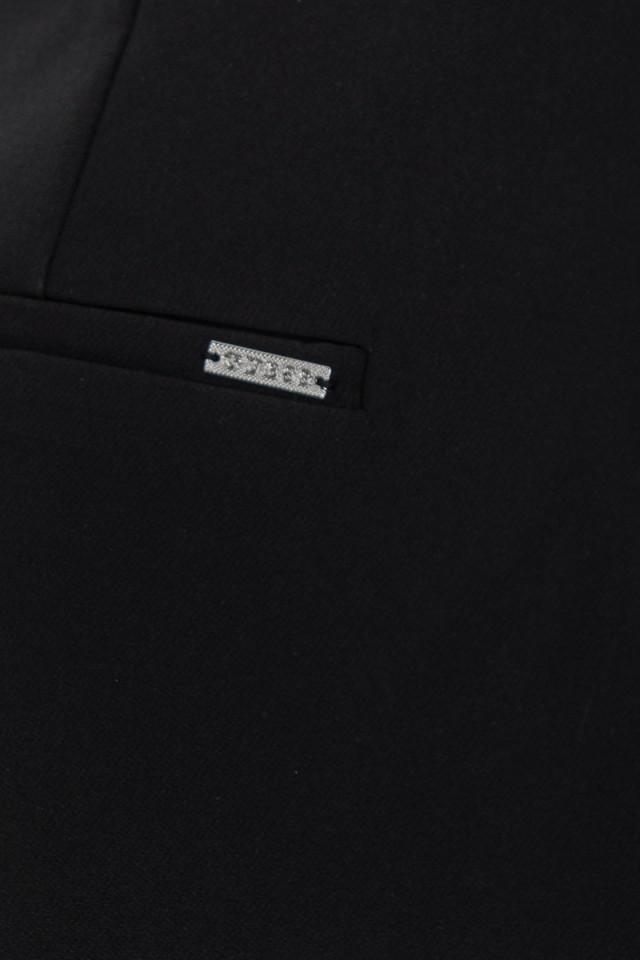 Szorty materiałowe z paskiem czarne GUESS