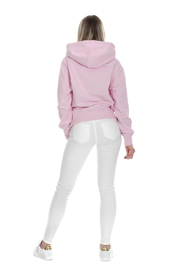 Bluza z kapturem logo różowa VERSACE JEANS COUTURE