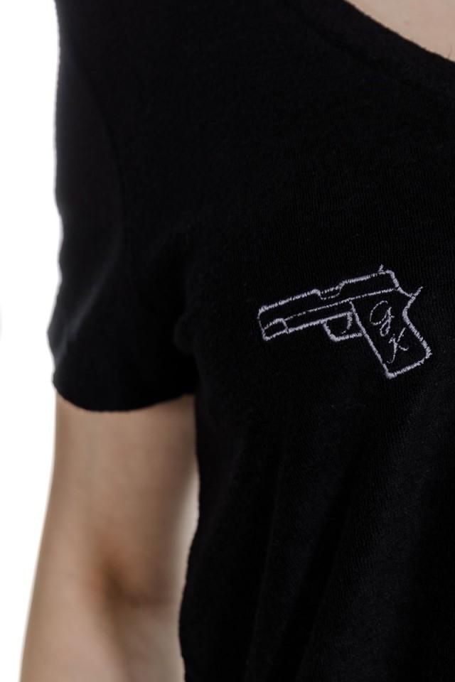 T-shirt czarny GOLD KILLER