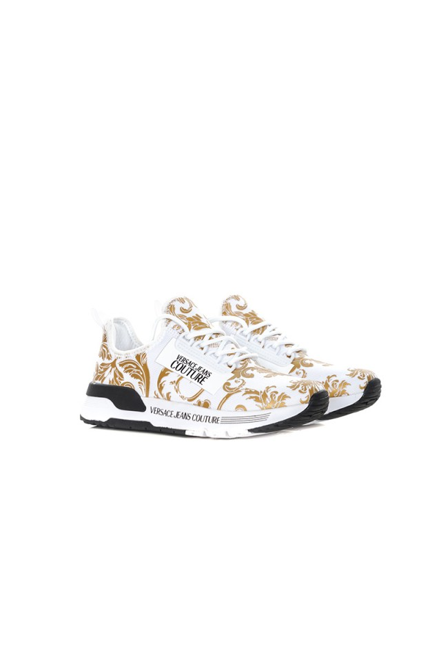 Sneakersy z logo PRINTED VERSACE JEANS COUTURE