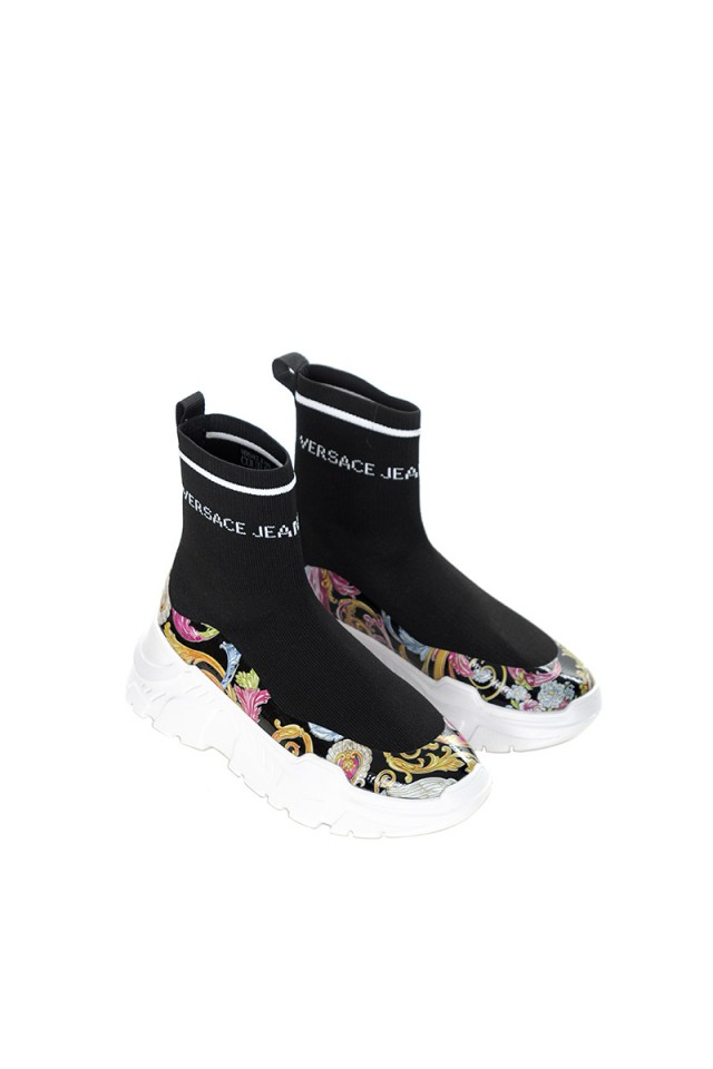 Sneakersy ze skarpetą VERSACE JEANS COUTURE