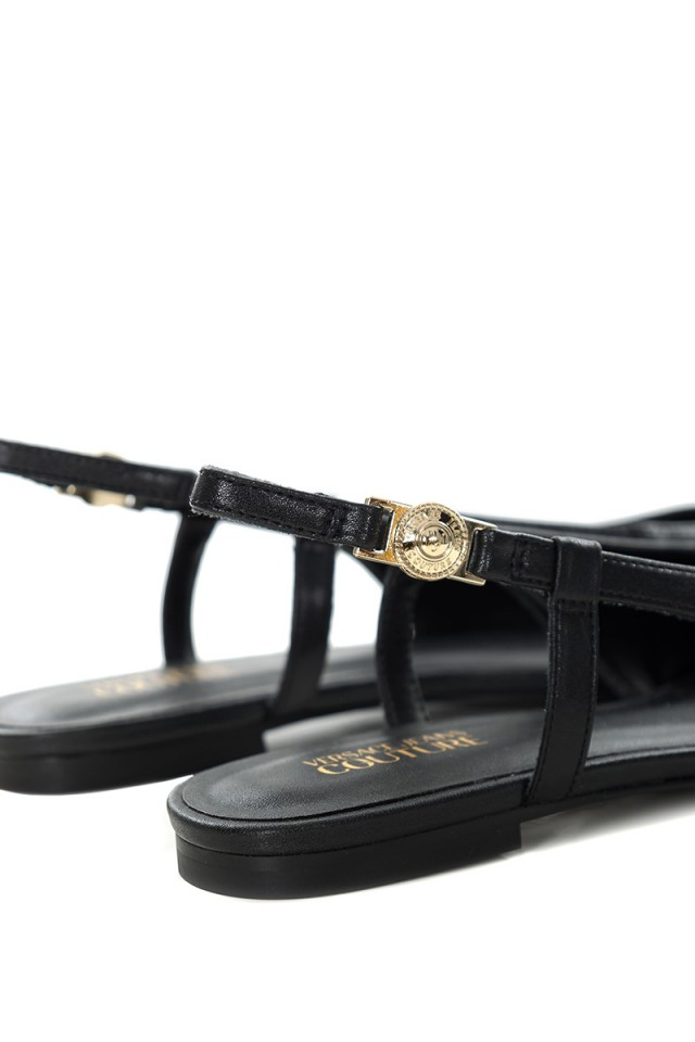 Sandały czarne VERSACE JEANS COUTURE