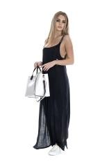 Sukienka maxi z rocięciem TOMMY HILFIGER