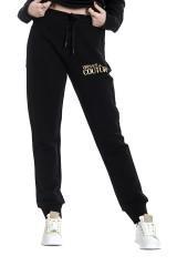 Spodnie dresowe z logo czarne VERSACE JEANS COUTURE