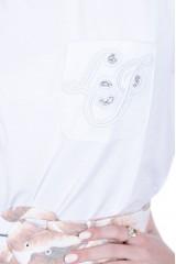 T-shirt z kieszonką biały LIU JO