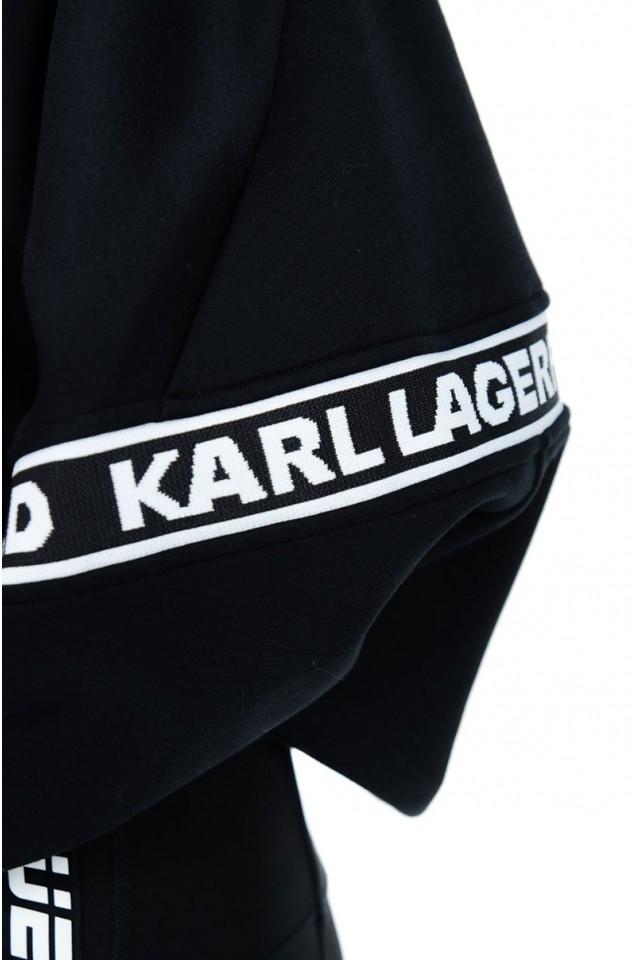 Bluza rozpinana LOGO TAPE ZIP KARL LAGERFELD