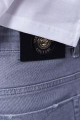 Spodnie jeansowe szare DENIM STRAIGHT VERSACE JEANS COUTURE