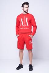 Bluza z logo czerwona AX FRONT ARMANI EXCHANGE