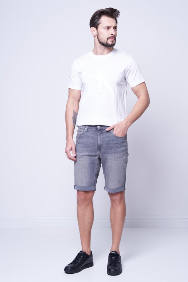 T-shirt z klasycznym logo biały CALVIN KLEIN JEANS