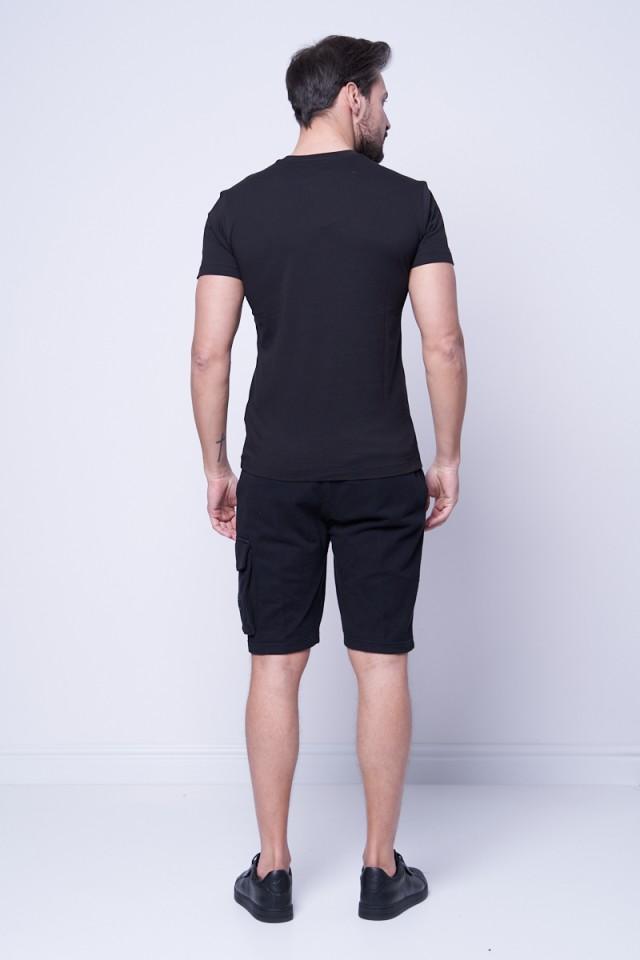 T-shirt z klasycznym logo czarny CALVIN KLEIN JEANS