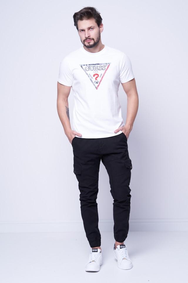 T-shirt z wyszywanym logo GUESS