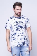 T-shirt z logo TIE DYE GUESS